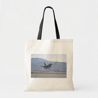 F-16 Landing At Luke Air Force Base Budget Tote Bag