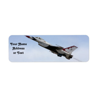 F-16 Thunderbird In Flight Return Address Label