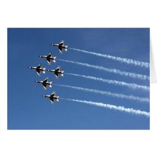 F-16 Thunderbirds Delta Formation Card