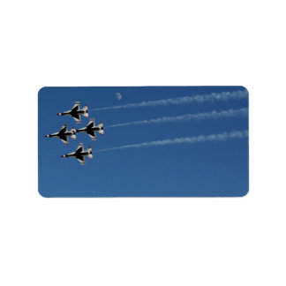 F-16 Thunderbirds Diamond  Formation Label