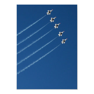 F-16 Thunderbirds Five Formation 13 Cm X 18 Cm Invitation Card