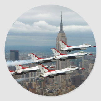 F-16's New York City Round Sticker