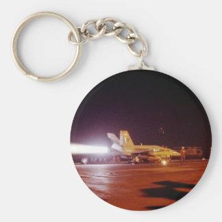 F-18 BASIC ROUND BUTTON KEY RING