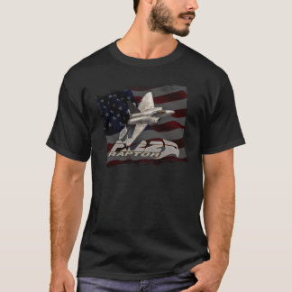 F-22 Raptor American Flag T-Shirt