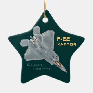 F-22 Raptor Ceramic Ornament