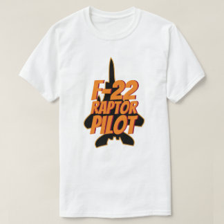 F-22 Raptor Pilot Military Jet Fighter T-Shirt