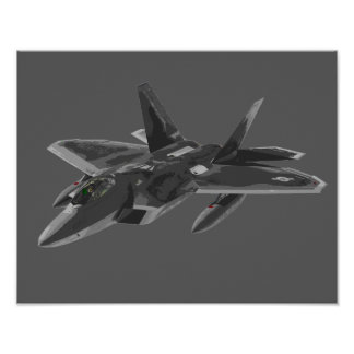 F 22 Raptor Stealthy Fighter Aircraft Poster