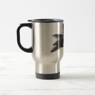 F 22 Raptor Stealthy Fighter Aircraft Travel Mug