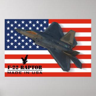 F-22 Raptor USA Poster