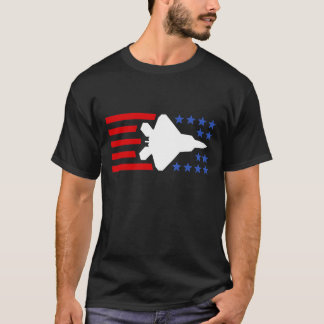 F-35 Lightning 2 Fighter Jet Stars and Stripes T-Shirt