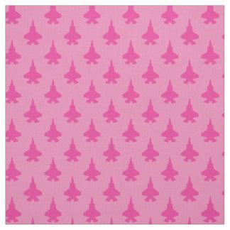 F-35 Lightning 2 Fighter Jets Pattern Girly Pink Fabric