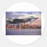 F-35 LIGHTNING FIGHTER AIRCRAFT ROUND STICKERS