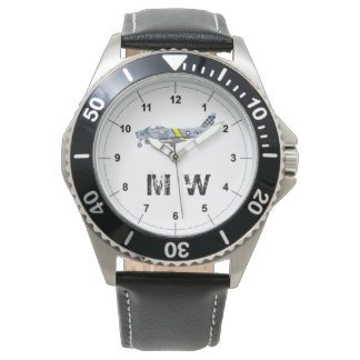F-86 Sabre | Monogrammed classic plane Watch
