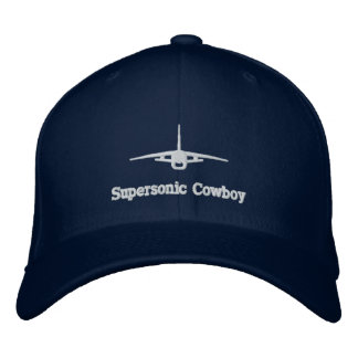 F-8 Supersonic Cowboy Golf Hat W/Call Sign on Back Embroidered Hat