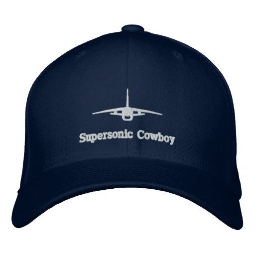 F-8 Supersonic Cowboy Golf Hat W/Call Sign on Back Embroidered Baseball Cap