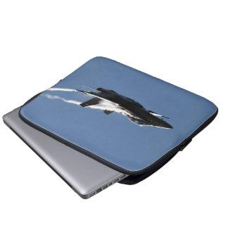 F A-18 CF-18 Hornet Aircraft Action Photo Design Laptop Computer Sleeve