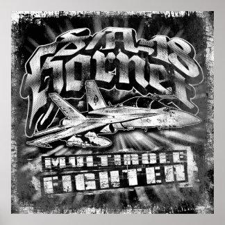 F/A-18 Hornet Poster Template BK Poster