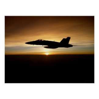 F/A-18C at Sunset Poster
