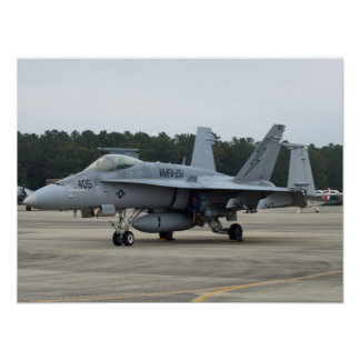 F/A-18C of VMFA-251 from MCAS Beaufort, SC Poster