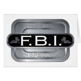 F B I Female Inspector Card