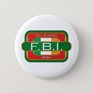 F B I Irish 6 Cm Round Badge