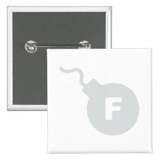 F Bomb 15 Cm Square Badge