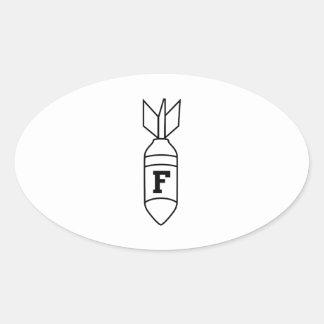 F Bomb Oval Sticker