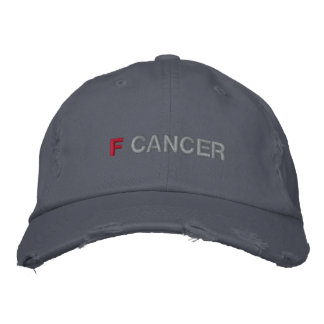 F CANCER EMBROIDERED BASEBALL CAPS