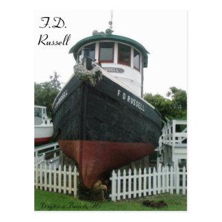 F.D. Russell Tug Boat # 1 Postcard