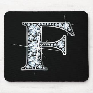 """F"" Diamond Bling Mousepad"