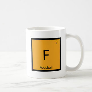 F - Foosball Games Chemistry Periodic Table Symbol Basic White Mug