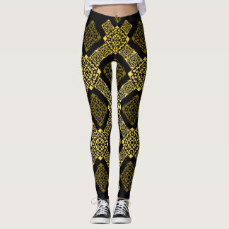 f gold diagonal leggings