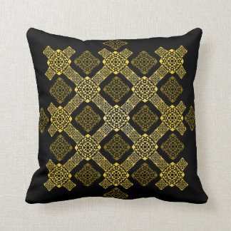 f gold diagonal throw pillow