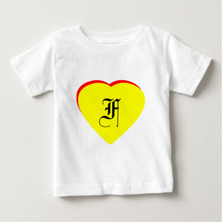 """""""F"""" Heart Yellow Red Wedding Invitation The MUSEUM Tees"""