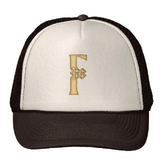 F Initial-Branded Personalised Fashion Hat