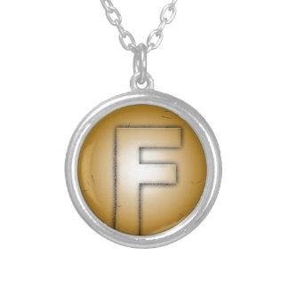 F initial letter custom jewelry