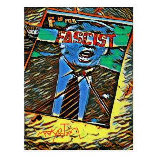 """F"" is for Fascist, Political, Politics Postcard"