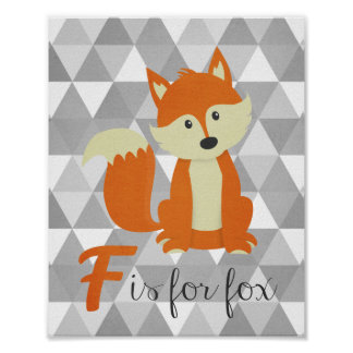 F is for Fox Nursery Wall Art
