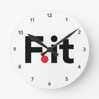 F It Anti Fitness Slogan Round Clock