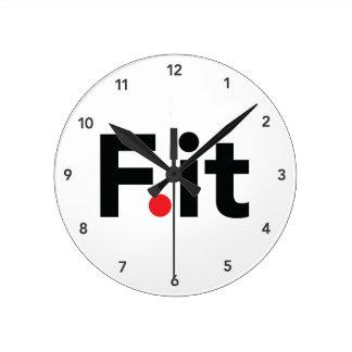 F It Anti Fitness Slogan Wallclock