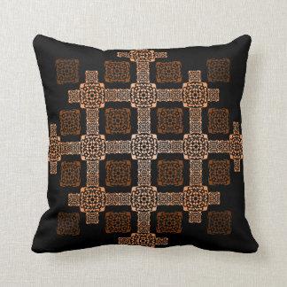 f orange square cushion