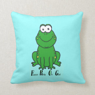 F.R.O.G (Forever Rely On God) Throw Pillow