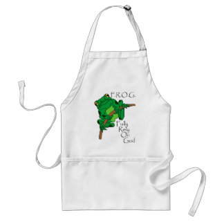 F.R.O.G. Fully Rely On God #1 Standard Apron