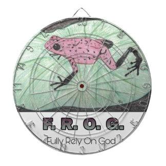 F.R.O.G.- Fully Rely On God Dartboard