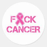 F(ribbon)CK Cancer Classic Round Sticker