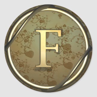 f round sticker