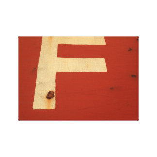 f-Rust-Typography Canvas Print