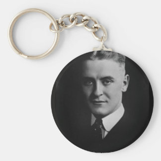 F Scott Fitzgerald Two Souls Gifts, Tees, Etc. Basic Round Button Key Ring