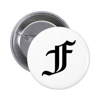 F-text Old English Pin