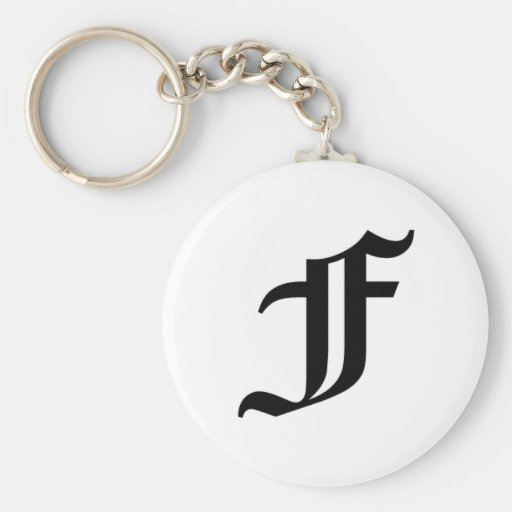 F-text Old English Key Chain